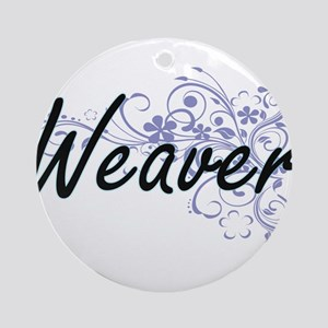 Weaver surname artistic design with Round Ornament