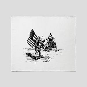 Apollo Moon Landing Throw Blanket