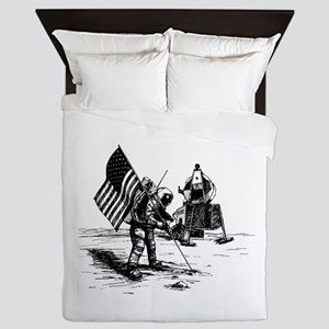 Apollo Moon Landing Queen Duvet