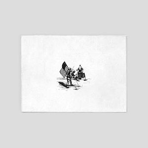 Apollo Moon Landing 5'x7'Area Rug