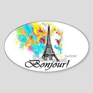 BONJOUR EIFFEL TOWER PARIS Sticker