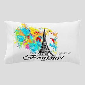 BONJOUR EIFFEL TOWER PARIS Pillow Case