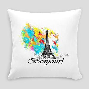 BONJOUR EIFFEL TOWER PARIS Everyday Pillow