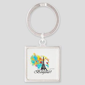 BONJOUR EIFFEL TOWER PARIS Keychains