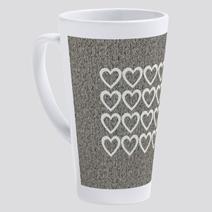 Cute Hearts Wooly 17 oz Latte Mug
