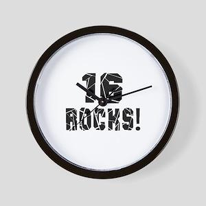 16 Rocks Birthday Designs Wall Clock