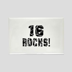 16 Rocks Birthday Designs Rectangle Magnet