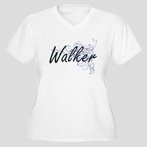 Walker surname artistic design w Plus Size T-Shirt