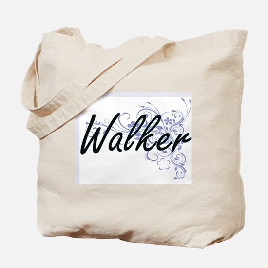 Walker surname artistic design with Flowe Tote Bag