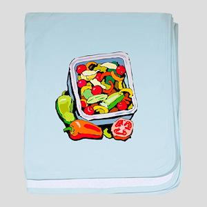 Vegetable salad mix baby blanket