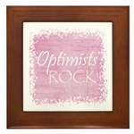 Optimists Rock (pink) Framed Tile