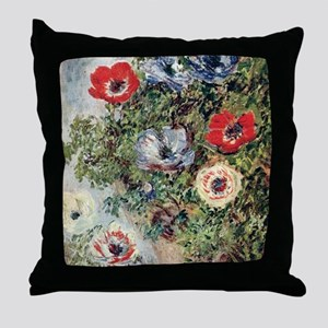 Still Life with Anemones Throw Pillow