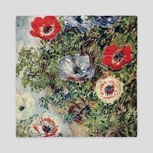Still Life with Anemones Queen Duvet