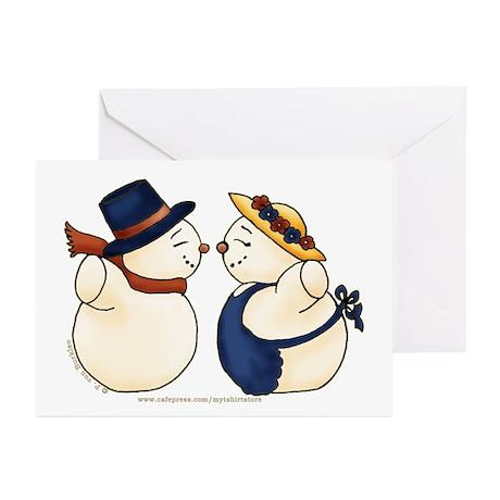 Cute Snowmen Image Greeting Cards (Pk of 10)