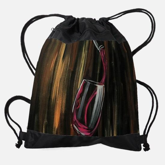 Fine Wine Drawstring Bag