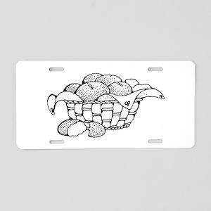 Basket Of Rolls Aluminum License Plate