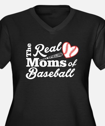 The Real MOMS of Baseball Plus Size T-Shirt