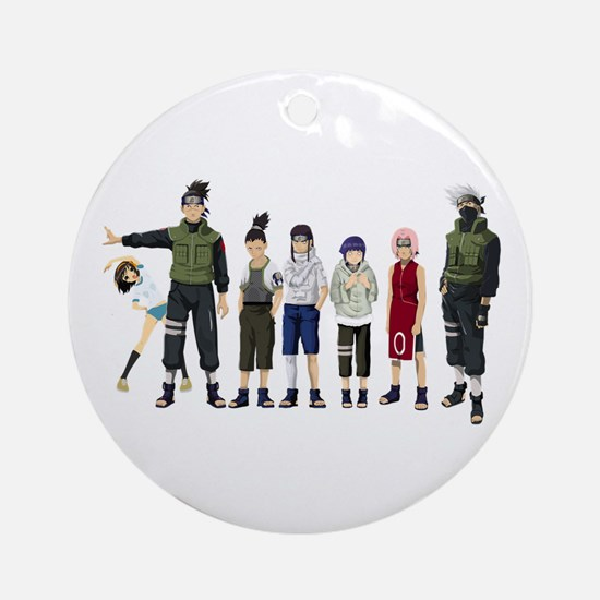 Anime characters Round Ornament