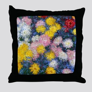 Chrysanthemums 1897 Throw Pillow
