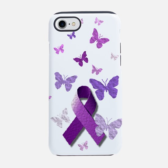Purple Awareness Ribbon iPhone 8/7 Tough Case