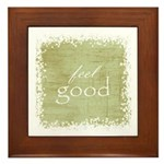 feel good Framed Tile