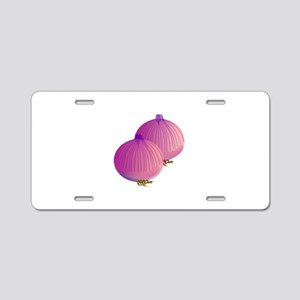 Onion Aluminum License Plate
