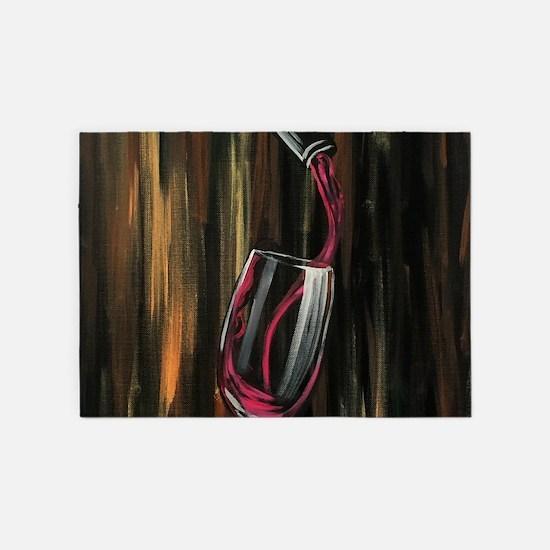 Fine Wine 5'x7'Area Rug