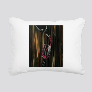 Fine Wine Rectangular Canvas Pillow