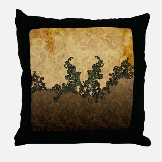 Beatiful dark vintage art Throw Pillow