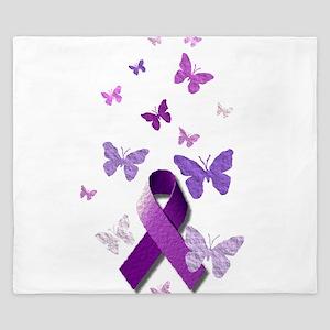 Purple Awareness Ribbon King Duvet