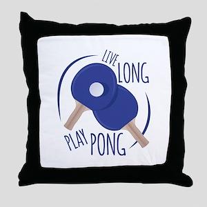 Play Pong Throw Pillow