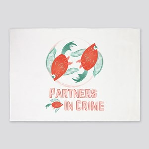 Partners In Crime 5'x7'Area Rug