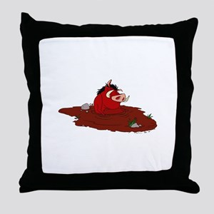 The Lion King in water Throw Pillow