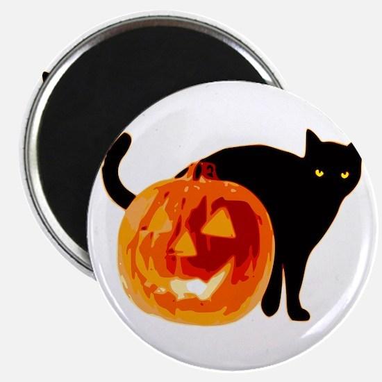 Cat and Halloween pumpkin Magnets
