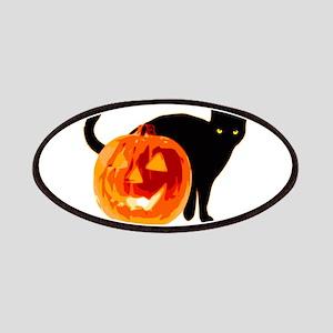 Cat and Halloween pumpkin Patch