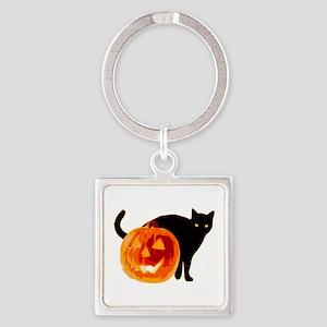 Cat and Halloween pumpkin Keychains