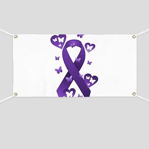Purple Awareness Ribbon Banner