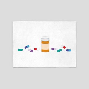 Pharmacy Prescription 5'x7'Area Rug