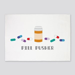 Pill Pusher 5'x7'Area Rug
