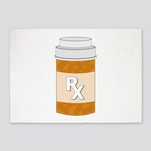 Prescription Bottle 5'x7'Area Rug