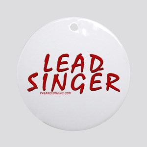 Lead Singer Ornament (Round)