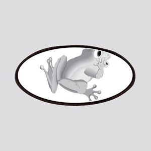 Grey Frog silhouette Patch