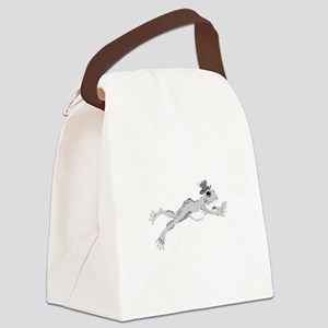 Frog with hat Canvas Lunch Bag