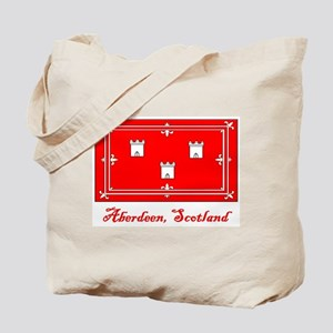 Aberdeen Scotland Flag Tote Bag