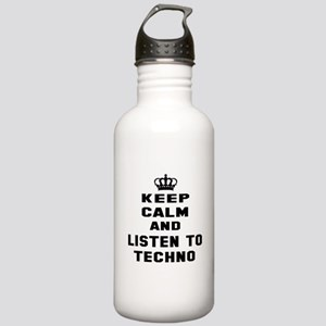 Keep calm and listen t Stainless Water Bottle 1.0L