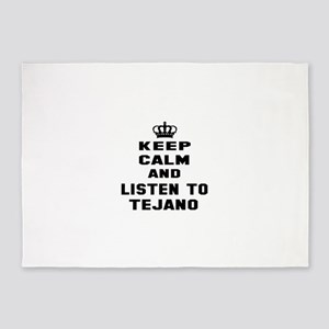 Keep calm and listen to Tejano 5'x7'Area Rug