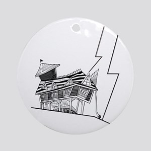 Crooked House Round Ornament