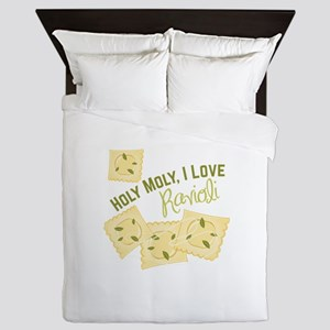 I Love Ravioli Queen Duvet