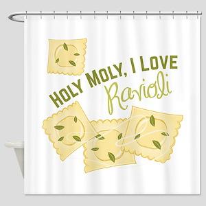 I Love Ravioli Shower Curtain