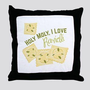 I Love Ravioli Throw Pillow